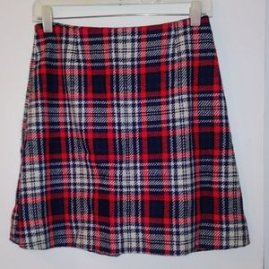 🎈Flannel Skirt Red & Blue